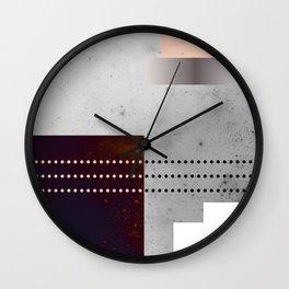 Speckled Polygon Dot Stripe Wall Clock