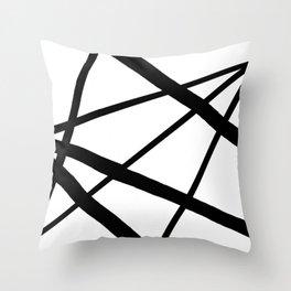 Star Diamond Line Abstract Throw Pillow