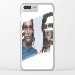 Bea & Franky Clear iPhone Case
