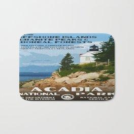 Vintage poster - Acadia National Park Bath Mat