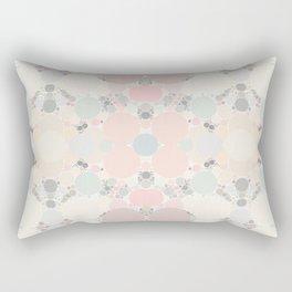 Pastel Neapolitan Circle Pattern Rectangular Pillow