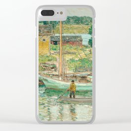 Oyster Sloop, Cos Cob 1902 by Childe Hassam Clear iPhone Case