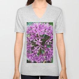 490 - Purple Allium Unisex V-Neck