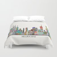 melbourne Duvet Covers featuring Melbourne by bri.buckley