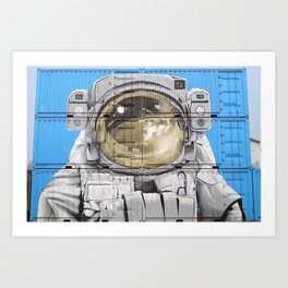 ASTROUNAUT IN CONTAINERS Art Print