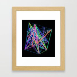 Colorful Rainbow Prism Framed Art Print