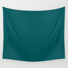 Dark Turquoise - Pure And Simple Wall Tapestry