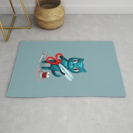 Sewing cat Rug