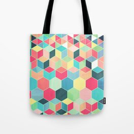 Yummy Summer Colour Honeycomb Pattern Tote Bag