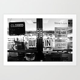 out, in Art Print
