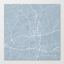 Winston-Salem Map, USA - Slate Canvas Print