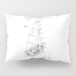 patent art Court Sailboat 1964 Pillow Sham