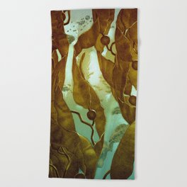 In the Kelp Forest Beach Towel