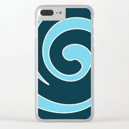 Tribal Ocean Wave Swirl Clear iPhone Case