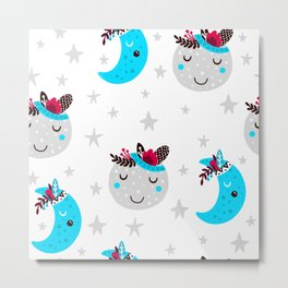 cute moon Metal Print
