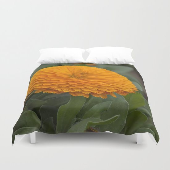 Calendula Flower Duvet Cover