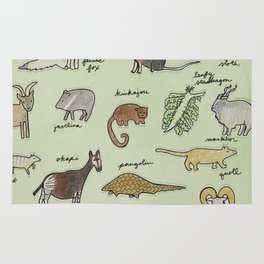 The Obscure Animal Alphabet Rug