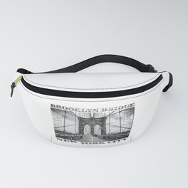 Brooklyn Bridge New York City (black & white edition with text) Fanny Pack
