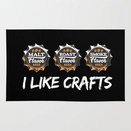 I Like Crafts   Beer Brewer Brewery Rug