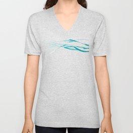 A Bottomless Sea No. 2 Aqua blue Unisex V-Neck
