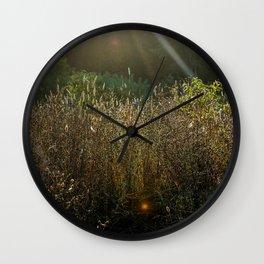 Morning Field Light Wall Clock