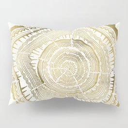 Gold Tree Rings Pillow Sham
