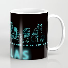 Digital Cityscape: Dallas, Texas Coffee Mug