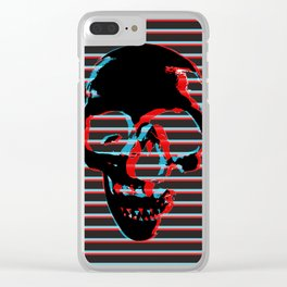 3D Skull Clear iPhone Case