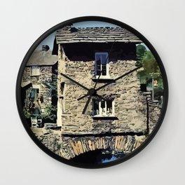 Old Bridge House Ambleside Cumbria England Wall Clock