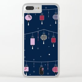 Night Lanterns Clear iPhone Case