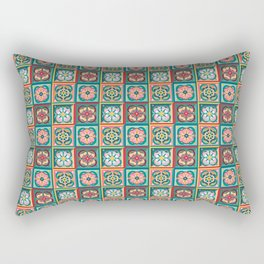 Folk Tiles Rectangular Pillow