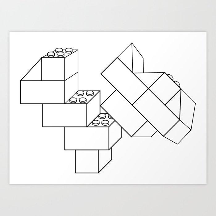 Heart Of Bricks Art Print By Sloppyjoe