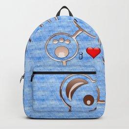 Teddy bear I love you Backpack