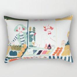 Market Stalls Rectangular Pillow