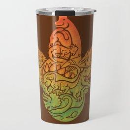 Prehistoric Print (brown) Travel Mug