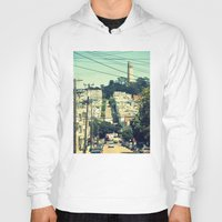 san francisco Hoodies featuring San Francisco by Mr and Mrs Quirynen