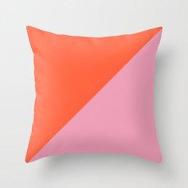Bright Orange & Pink - oblique Throw Pillow