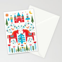 Scandinavian Inspired Fairytale - Bright Stationery Cards