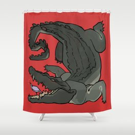 The Plover and the Gator Shower Curtain