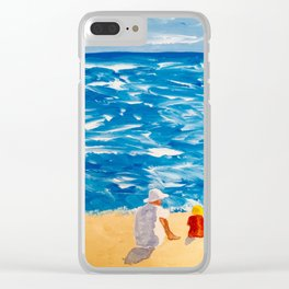 Beach Memories Clear iPhone Case