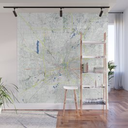 Indianapolis' POP urban map Wall Mural