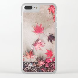 Fall Fell Clear iPhone Case