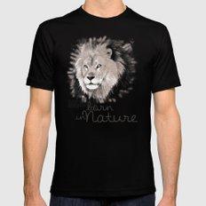 Lion (BornInNature) Mens Fitted Tee MEDIUM Black