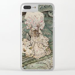 Cute little Mouse dressed up Clear iPhone Case