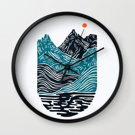 ABSTRACTED LANDSCAPE Wall Clock