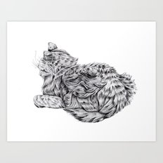 Pencil Cat Art Print