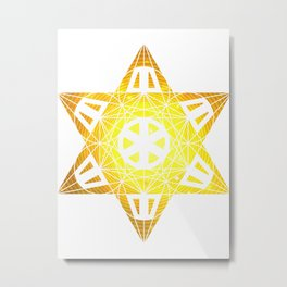 Metatron's Cube Time Wheel ~ Enlightenment Metal Print