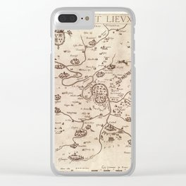 Map of France 1643 Clear iPhone Case