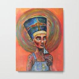 Ordinary Nefertiti Metal Print