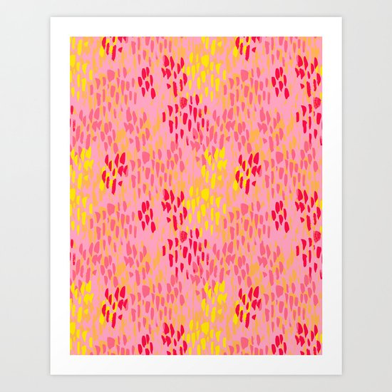 Picnic Pals paint in strawberry Art Print